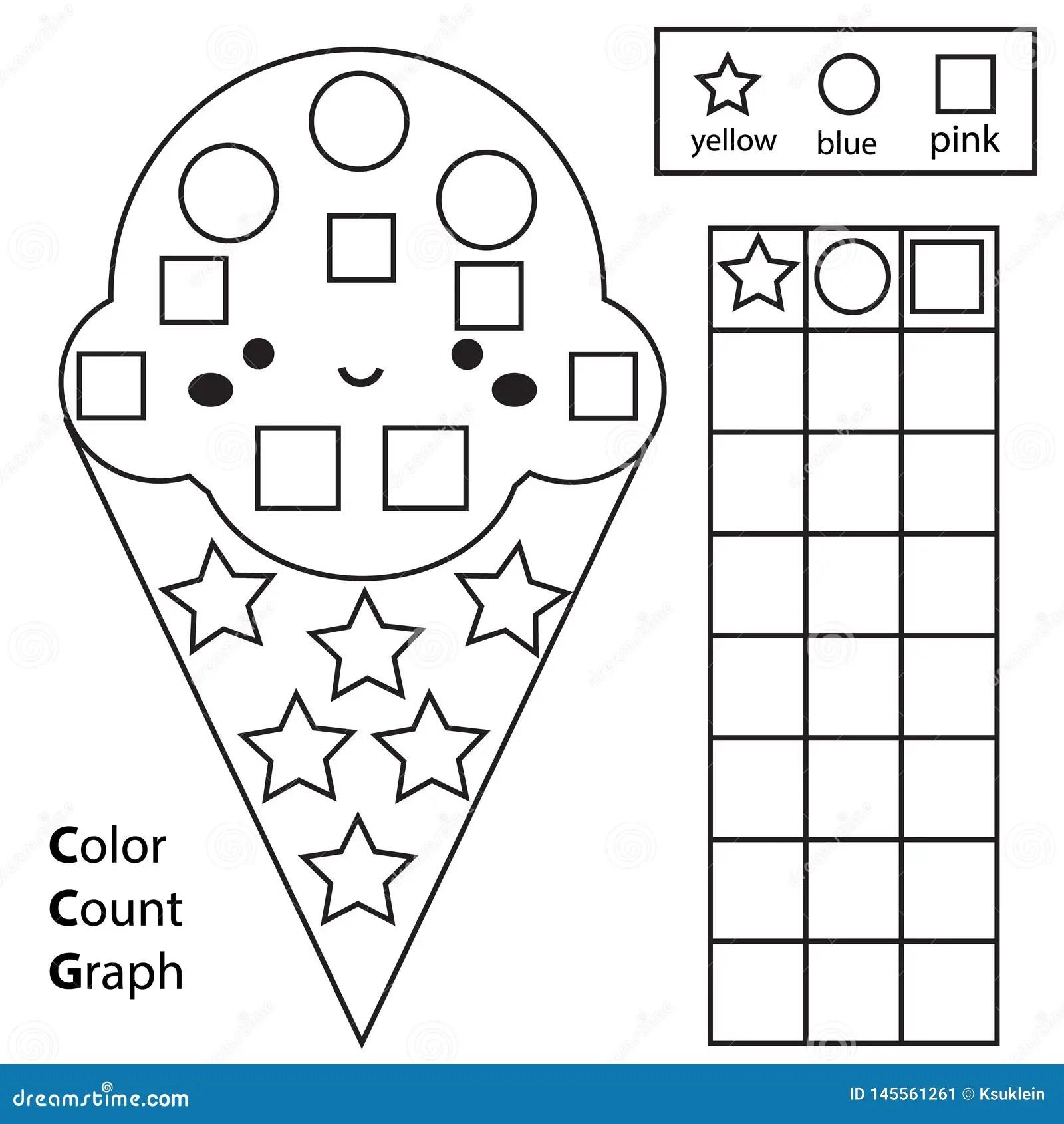 Coloring Shapes Worksheet For Kindergarten