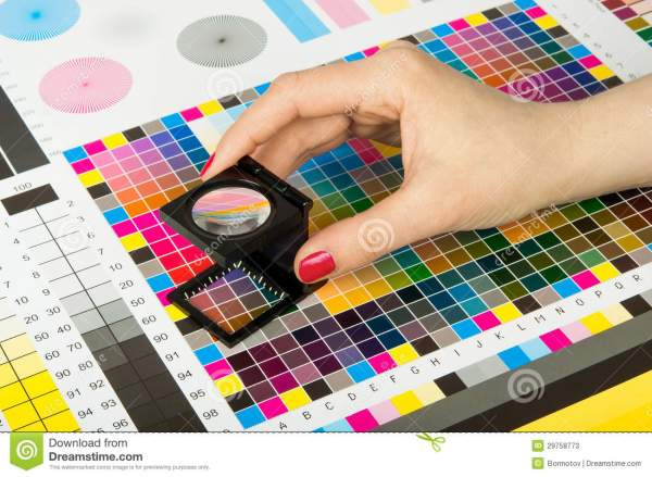 Color Management In Print Production Stock Image - Image ...