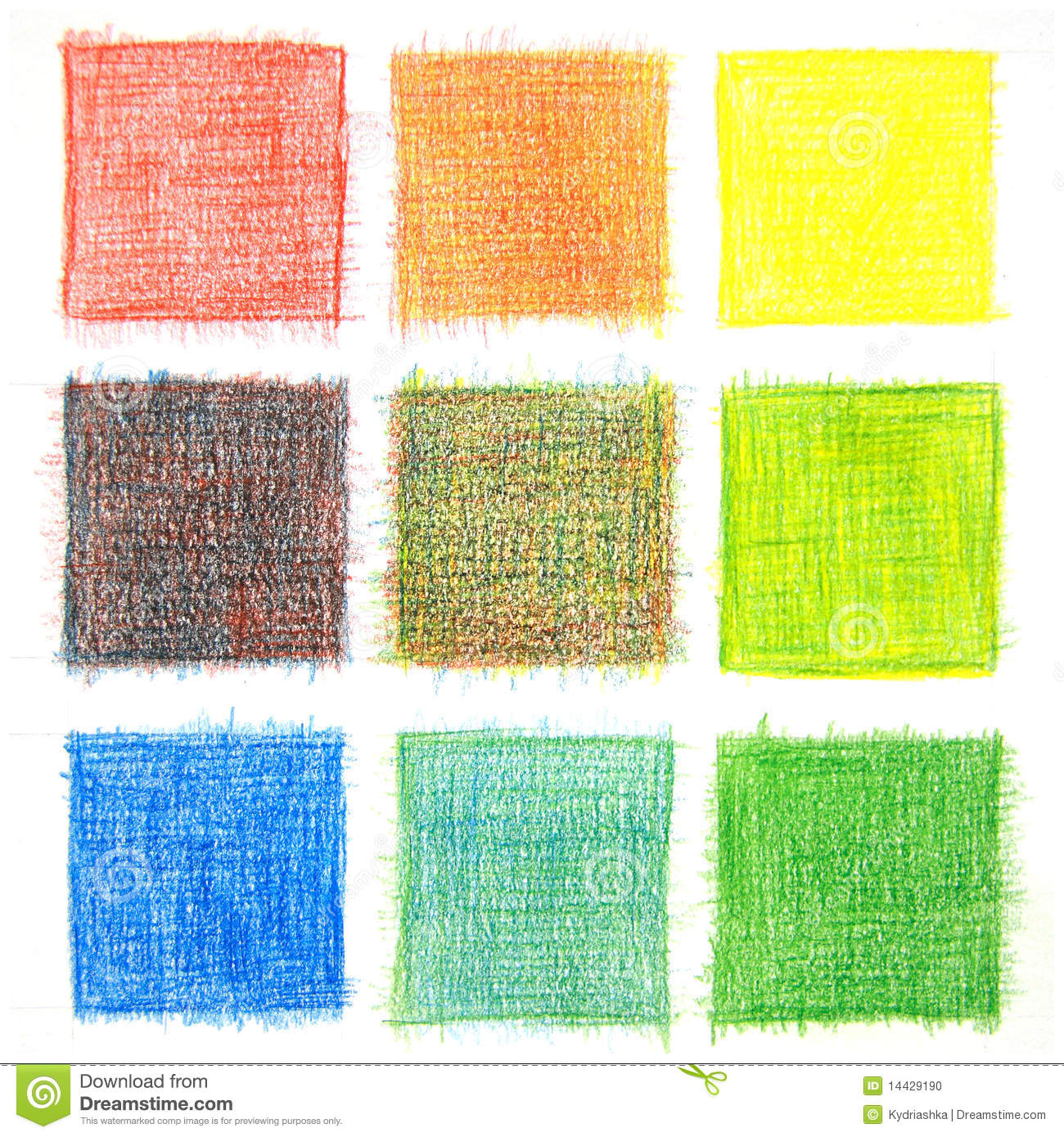 Color Mix Background Pencils Stock Photo