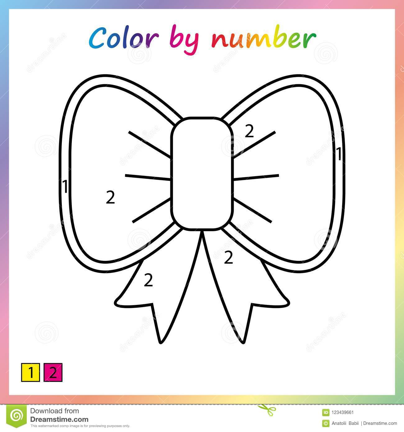 Color Worksheet Pre K