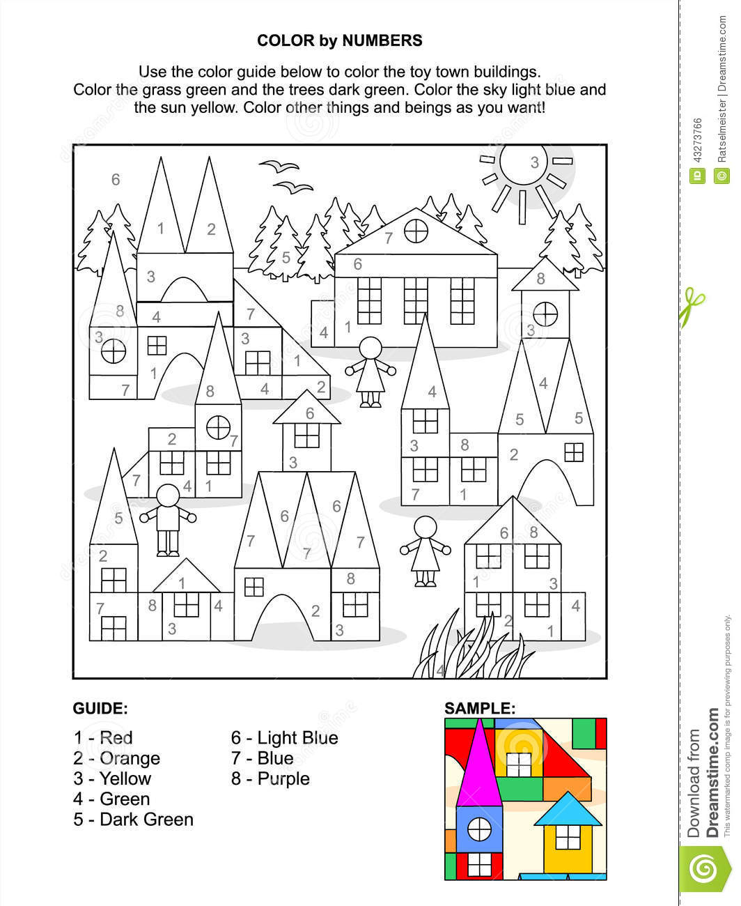 Color By Numbers Activity Page