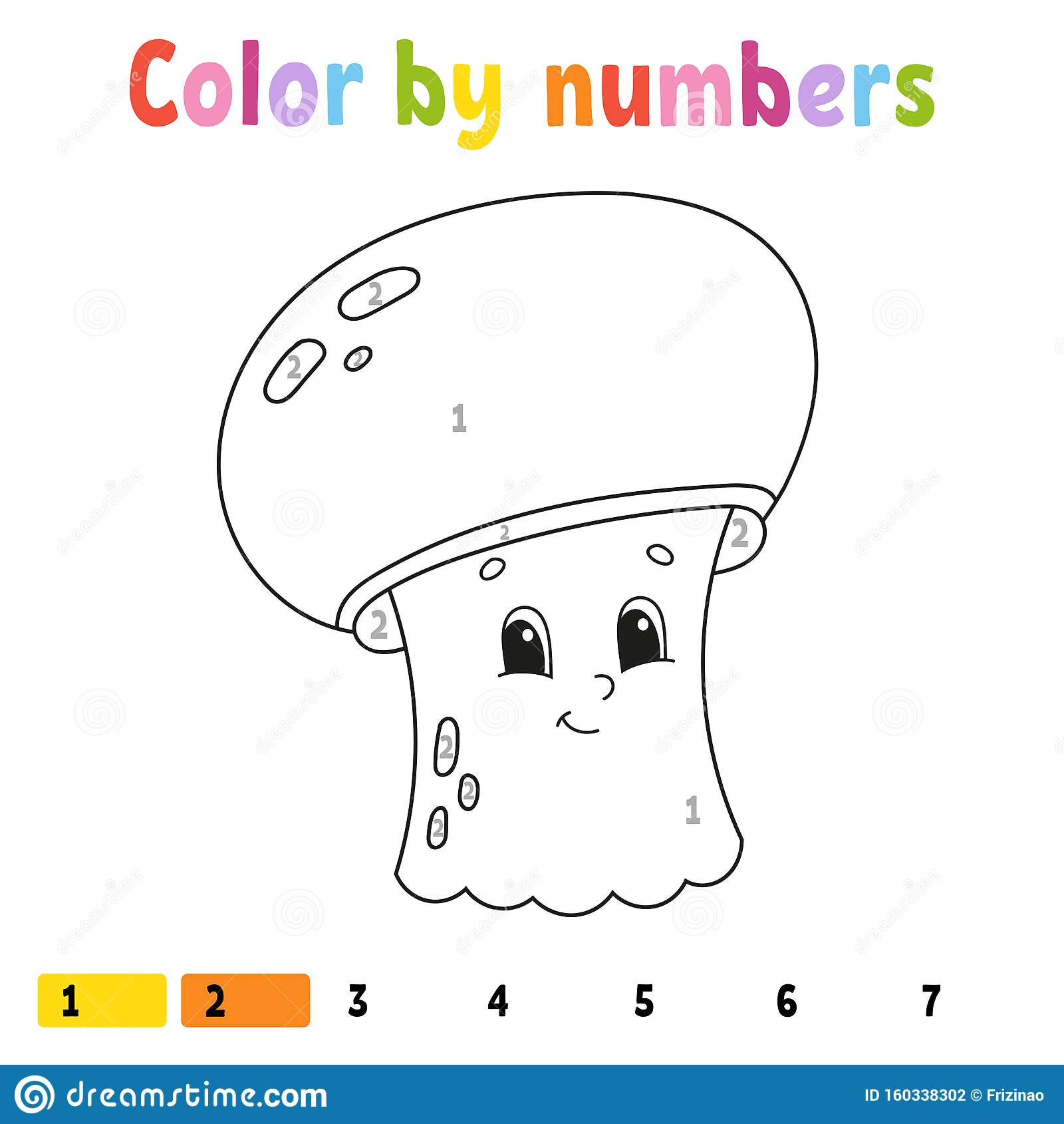 Color By Numbers Coloring Book For Kids Cheerful