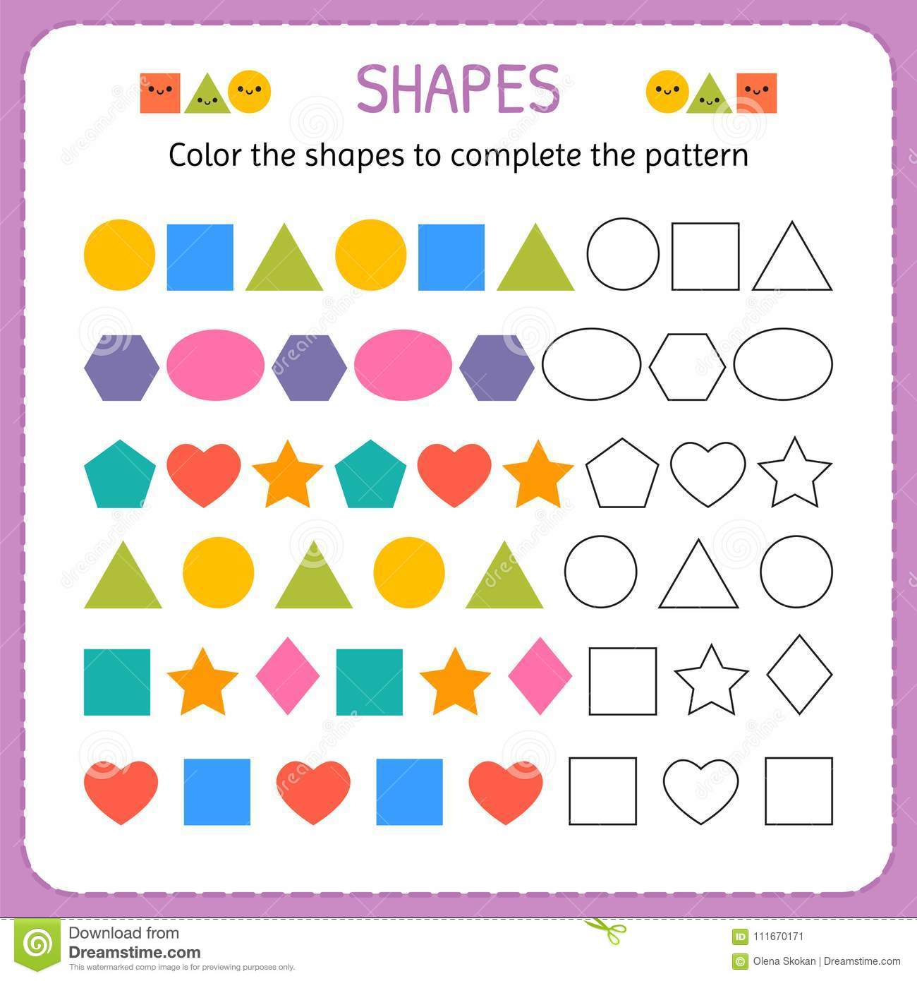 Color Patterns Worksheet Unfix