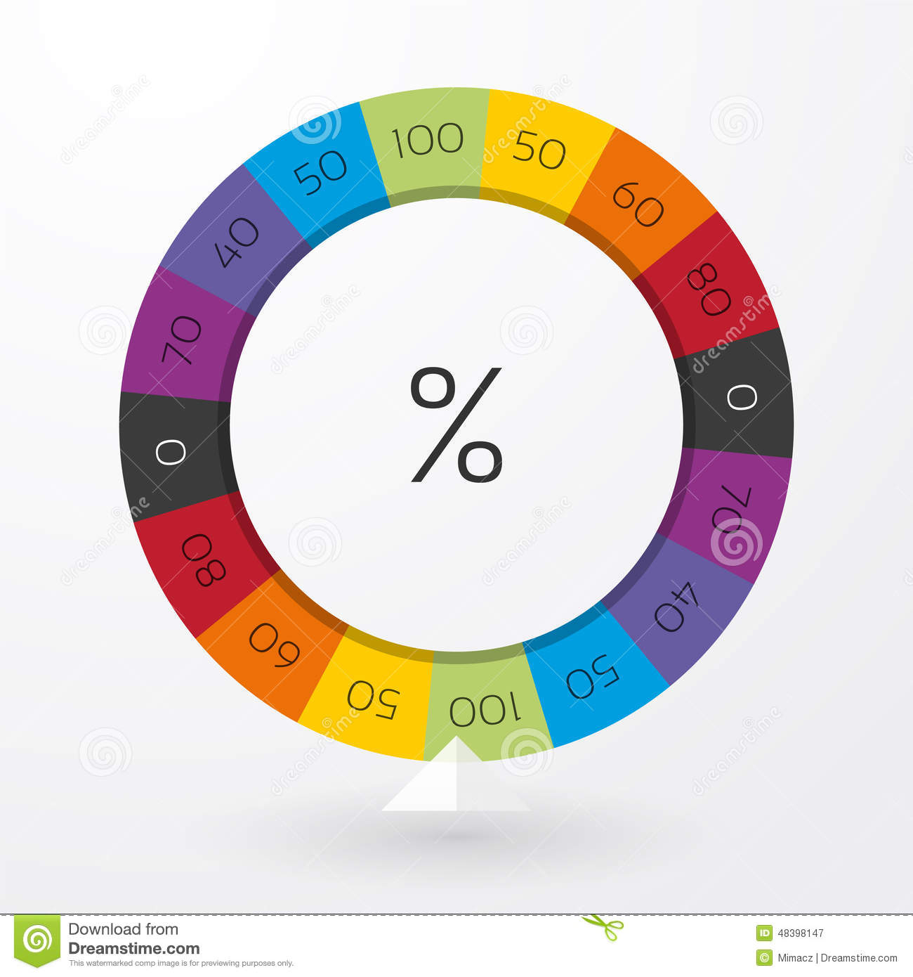 Color Wheel Of Fortune Stock Vector Illustration Of Luck