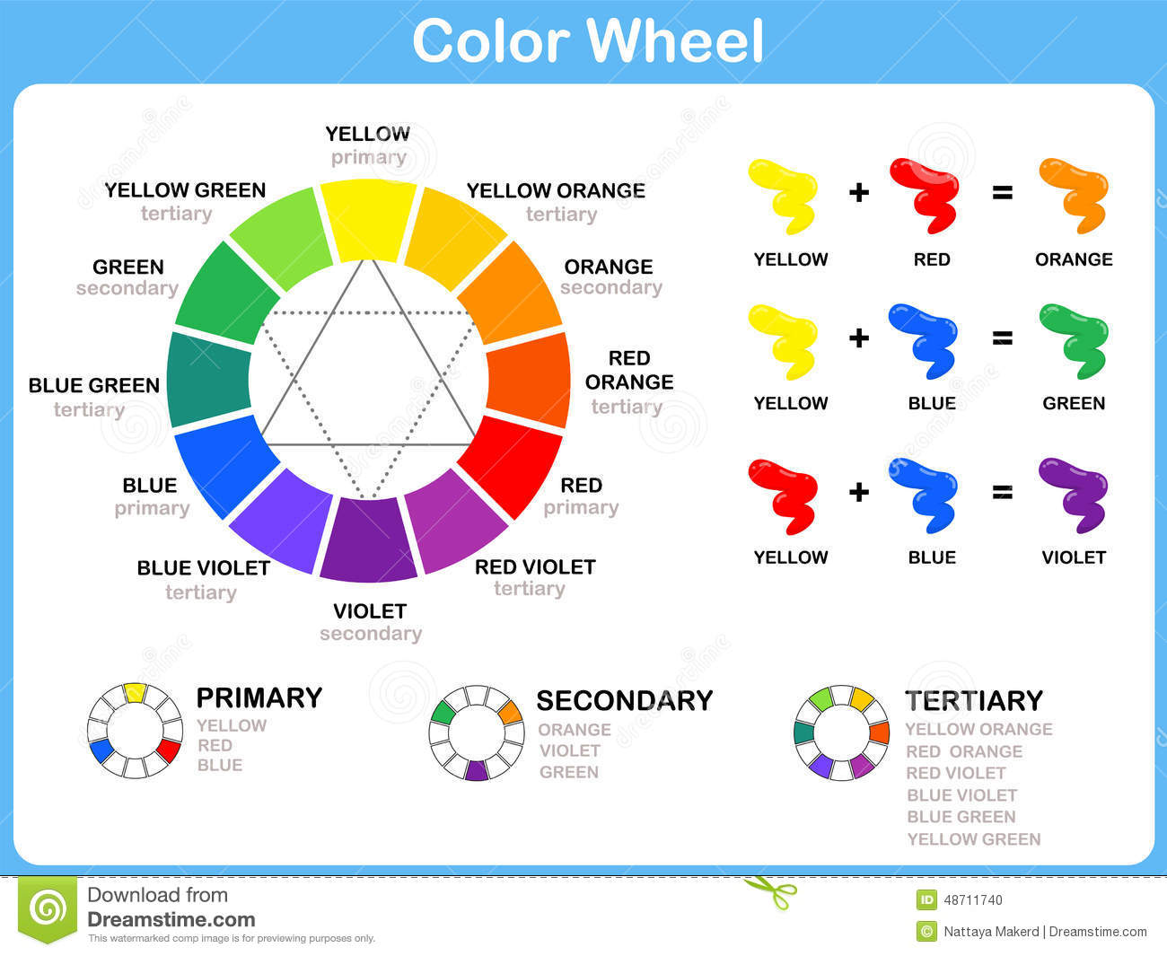 Flower Color Theory Worksheet