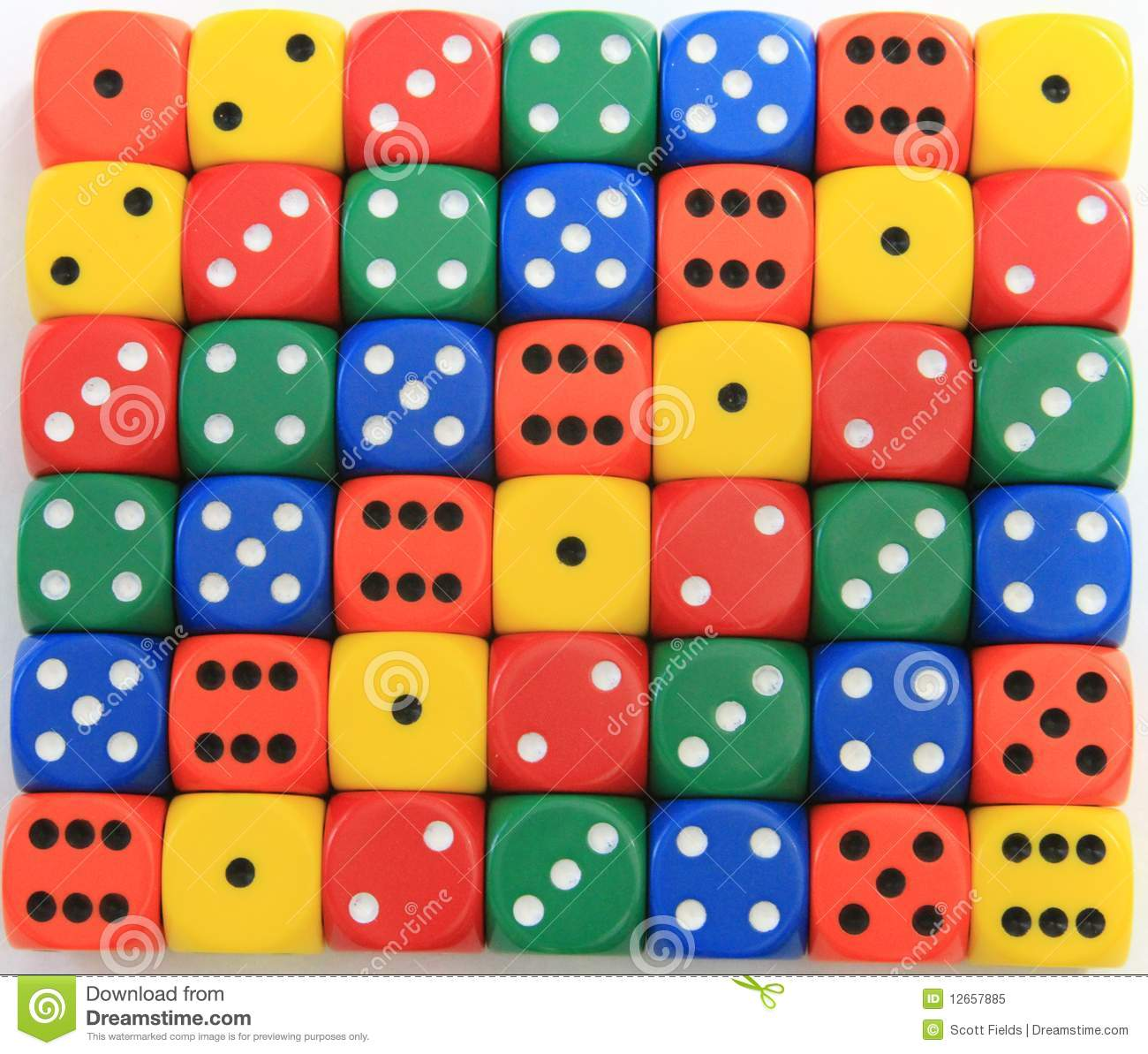 Colored Dice Stock Image Image Of Colored Colors
