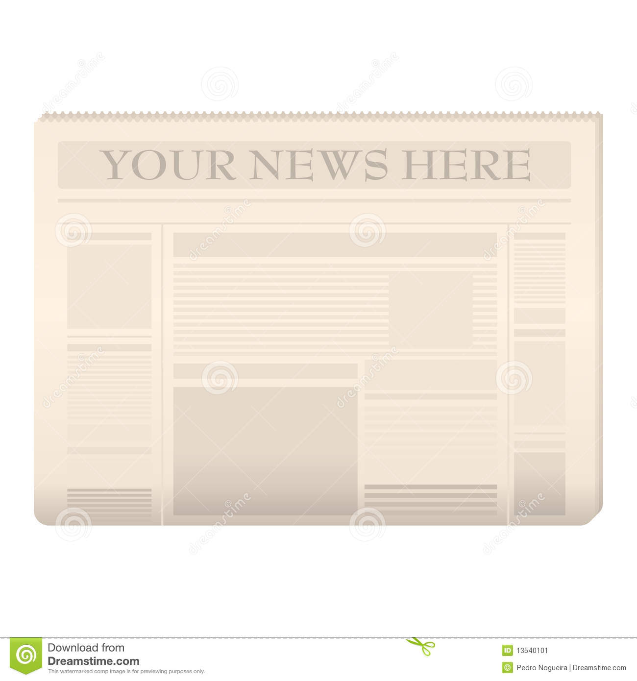Colored newspaper template stock vector  Illustration of newspaper     Colored newspaper template