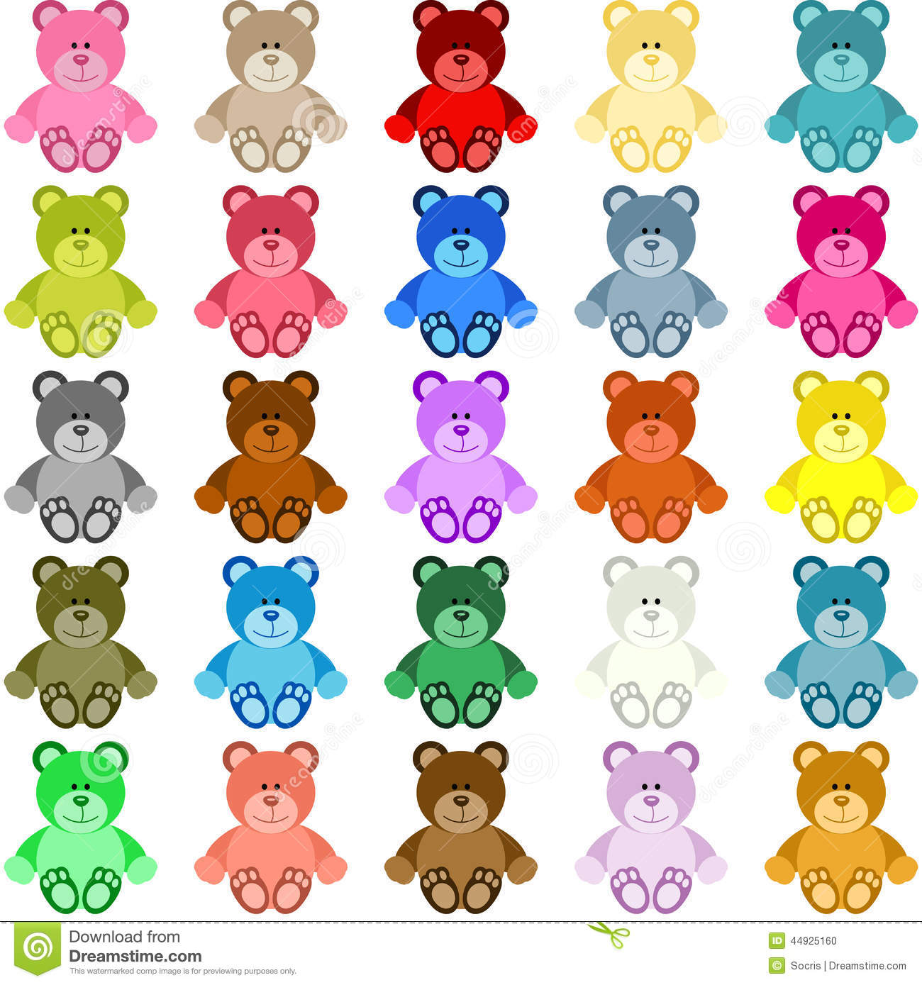Colored Teddy Bear Stock Vector Illustration Of Arrival