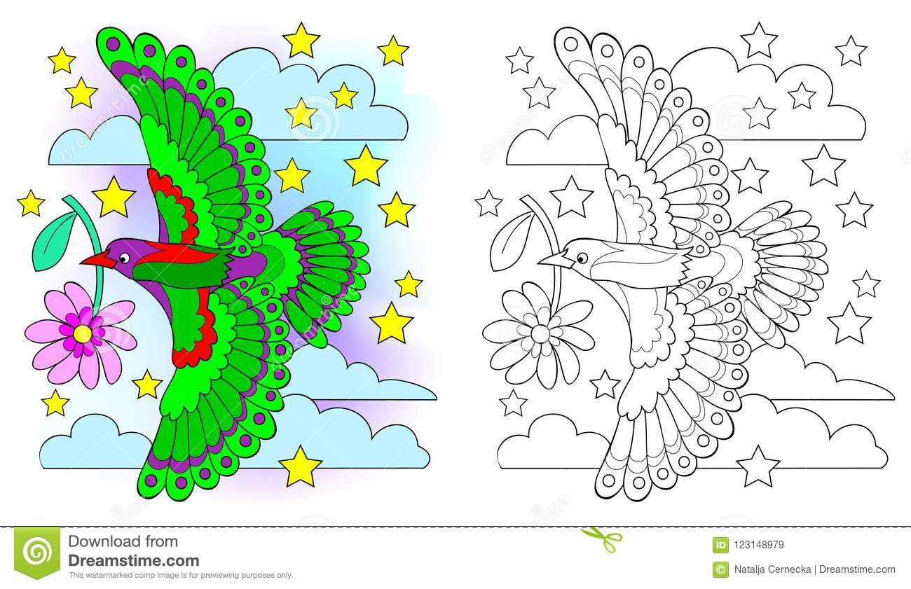 Colorful And Black And White Pattern For Coloring Drawing