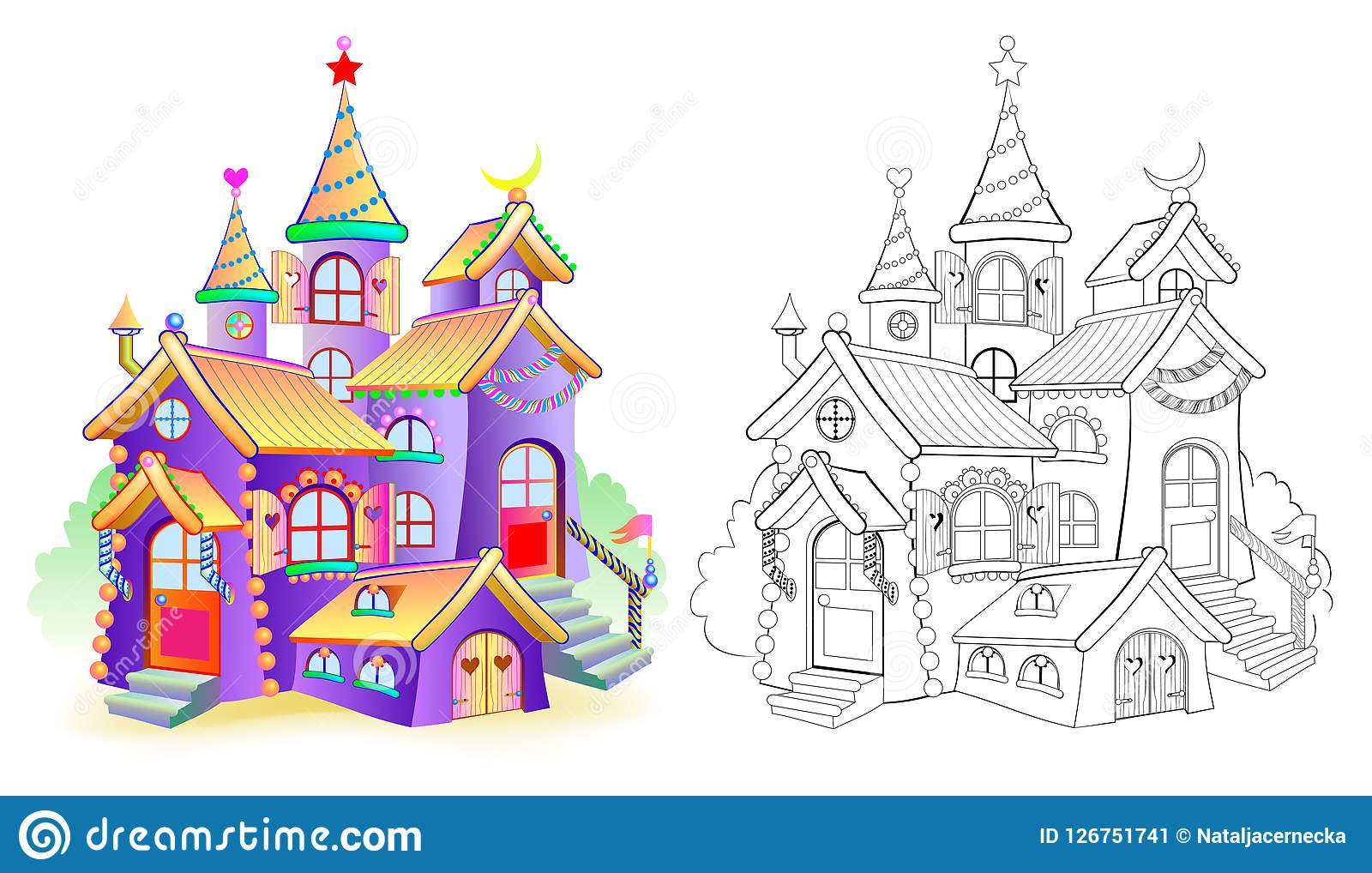 Colorful And Black And White Pattern For Coloring