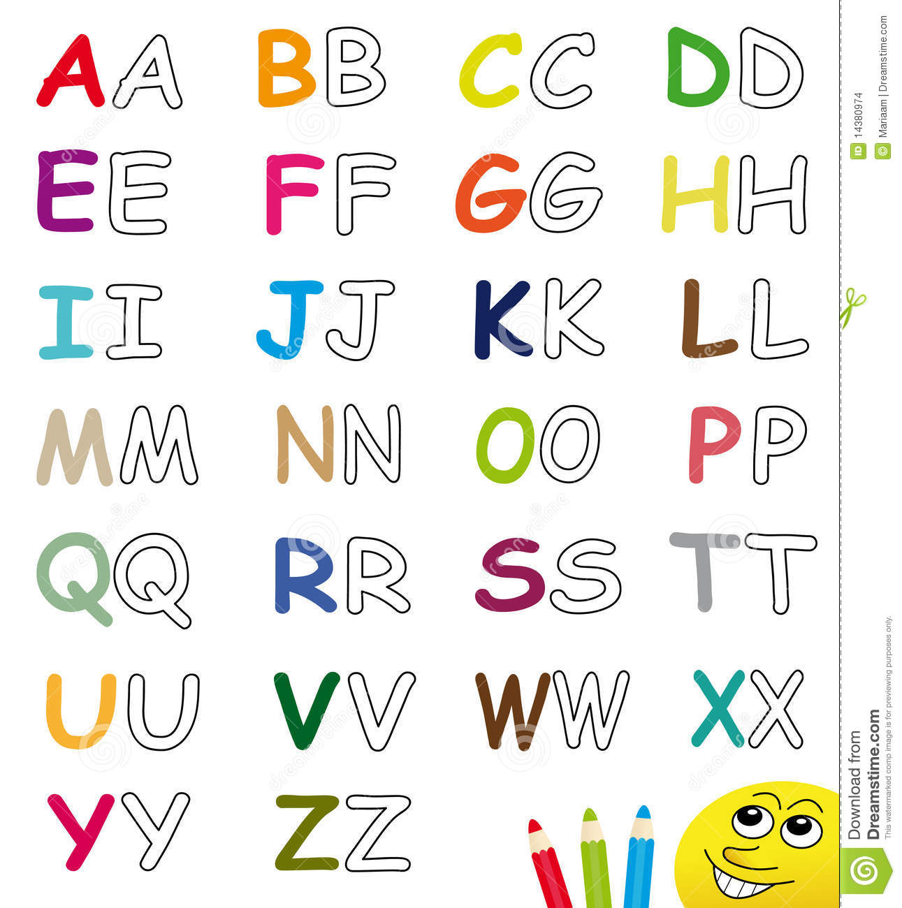 Colorful Amp Blank Alphabet Letters Stock Illustration