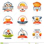 Colorful Cartoon Fast Food Label Logo Isolated Restaurant Tasty American Cheeseburger Badge Mea Meal Vector Illustration Stock Vector Illustration Of Fastfood Bread 94981401