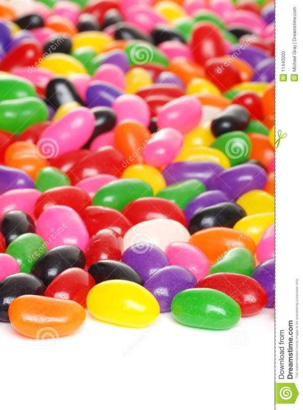 Colorful Jelly Beans Isolated Stock Photo - Image: 11440000