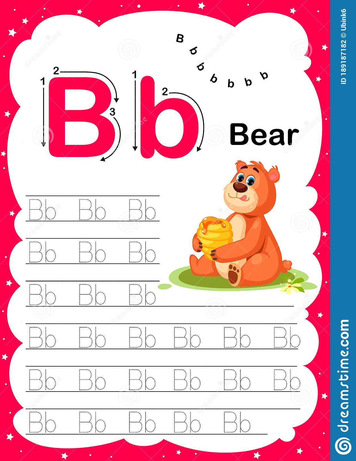 Colorful Letter B Uppercase And Lowercase Alphabet A Z