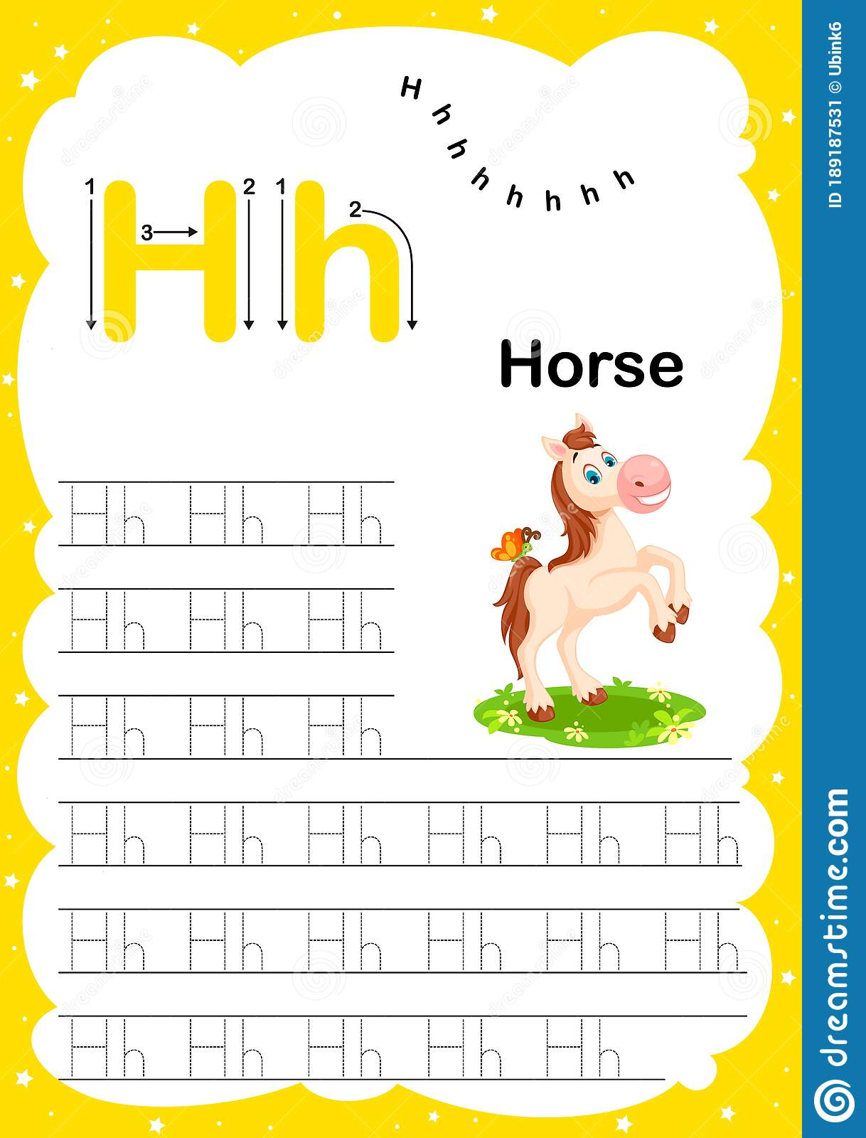 Colorful Letter H Uppercase And Lowercase Alphabet A Z