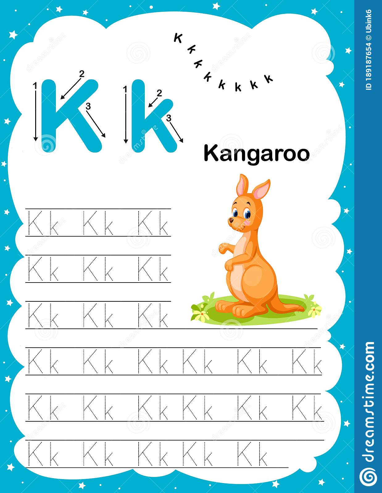 Colorful Letter K Uppercase And Lowercase Alphabet A Z