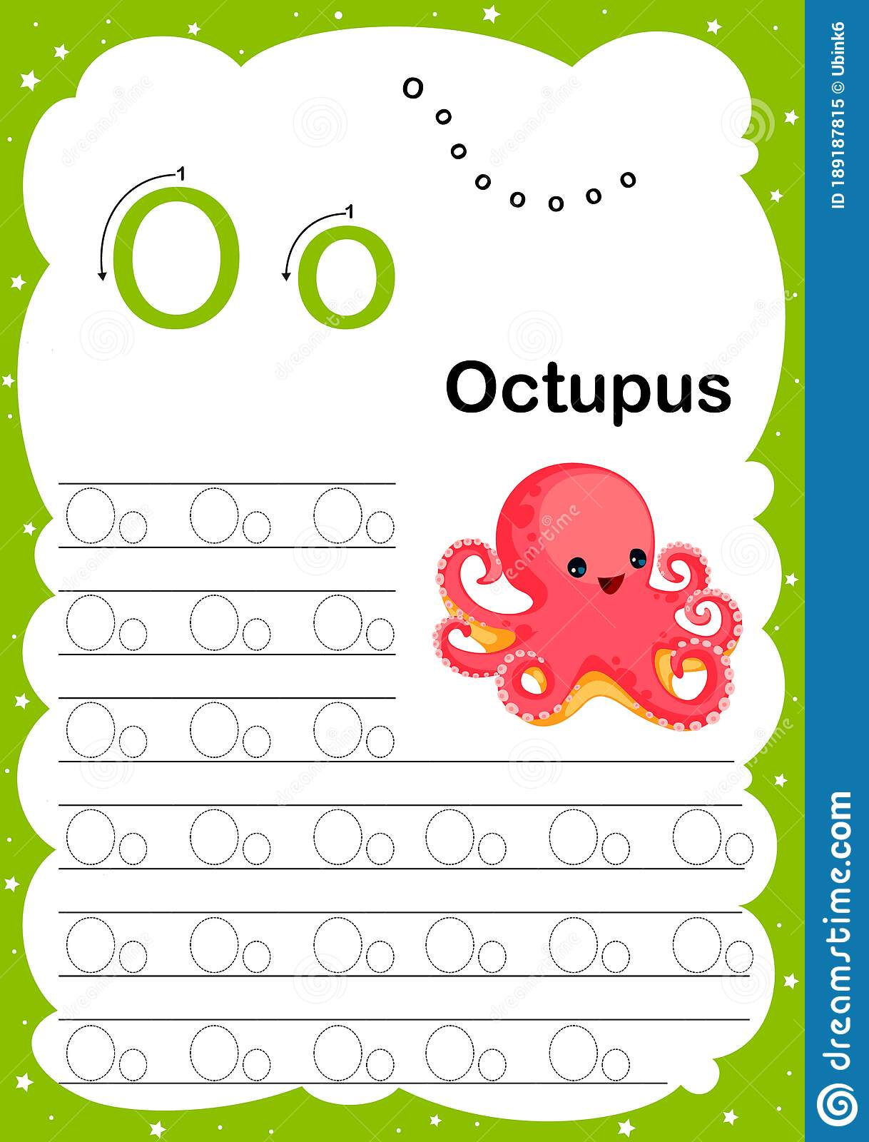 Colorful Letter O Uppercase And Lowercase Alphabet A Z