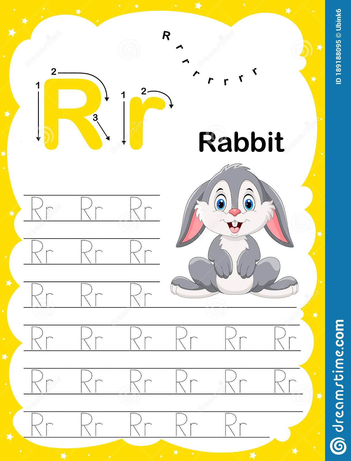 Colorful Letter R Uppercase And Lowercase Alphabet A Z