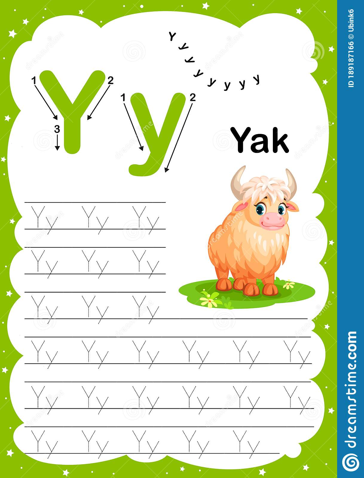 Colorful Letter Y Uppercase And Lowercase Alphabet A Z