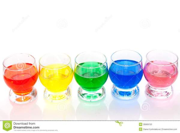 Colorful liquids stock photo. Image of background, group ...
