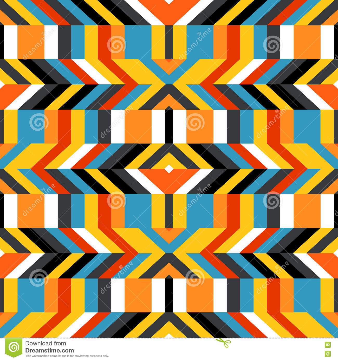 Colorful Op Art Pattern Stock Vector Illustration Of