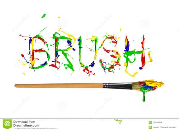 Colorful Paint Painted Word Brush Stock Illustration ...