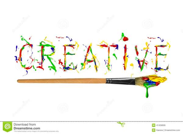Colorful Paint Painted Word Creative Stock Illustration ...