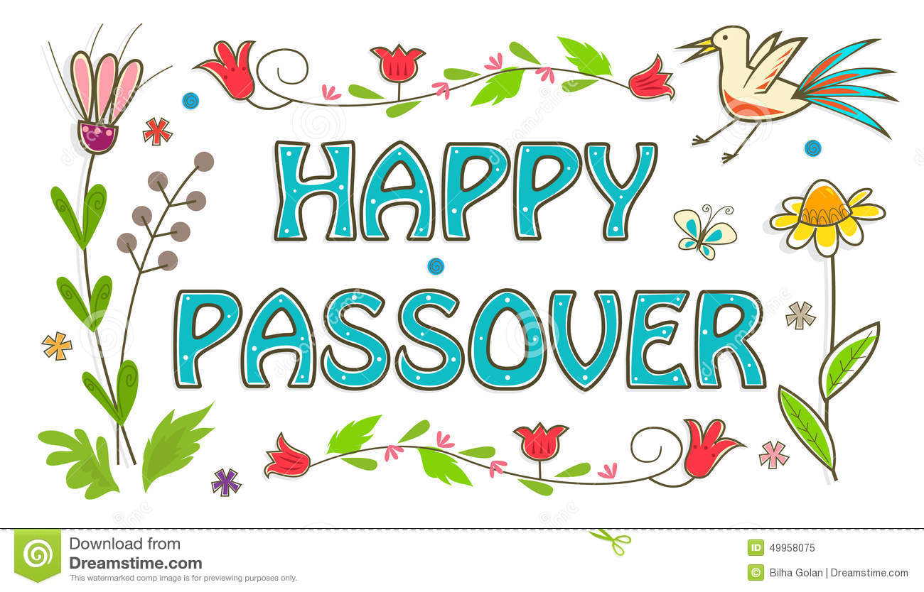 Colorful Passover Sign Stock Vector