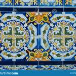 Colorful Pattern Ceramic Tiles Beautiful Design Detail Stock Image Image Of Color Geometric 127810415