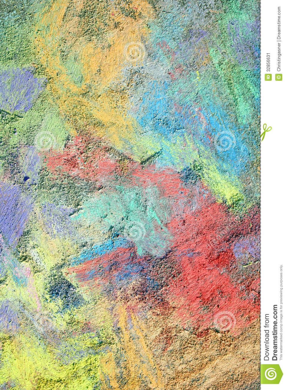 Colorful Textured Chalk Background Stock Image Image