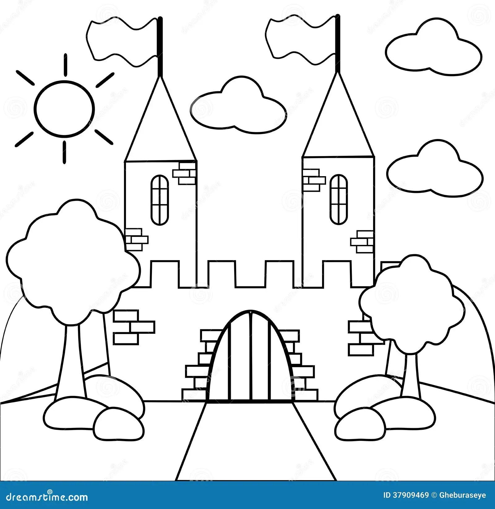 Colori Il Castello Illustrazione Di Stock Illustrazione