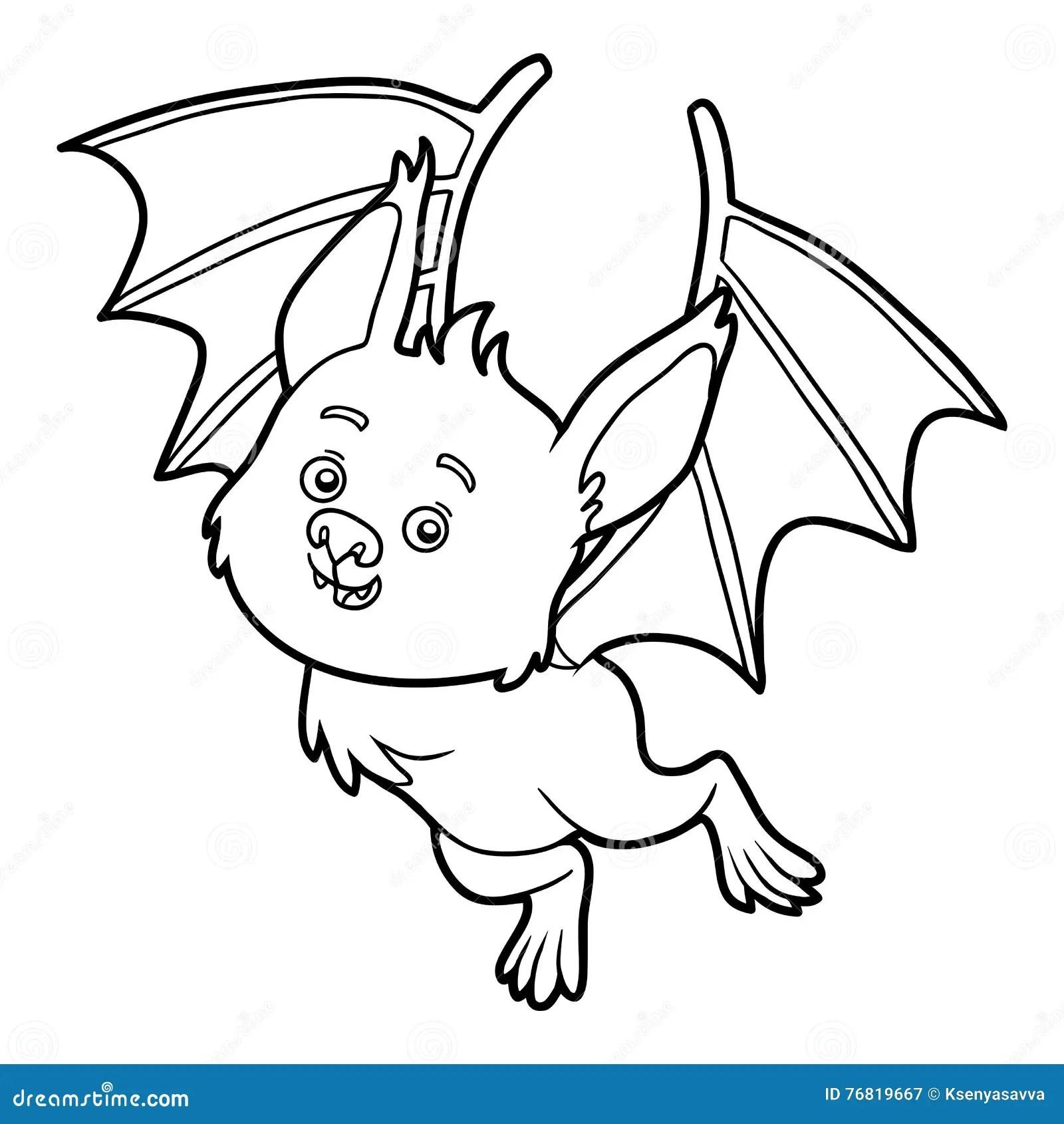 Coloring Book Bat Stock Vector Illustration Of Black
