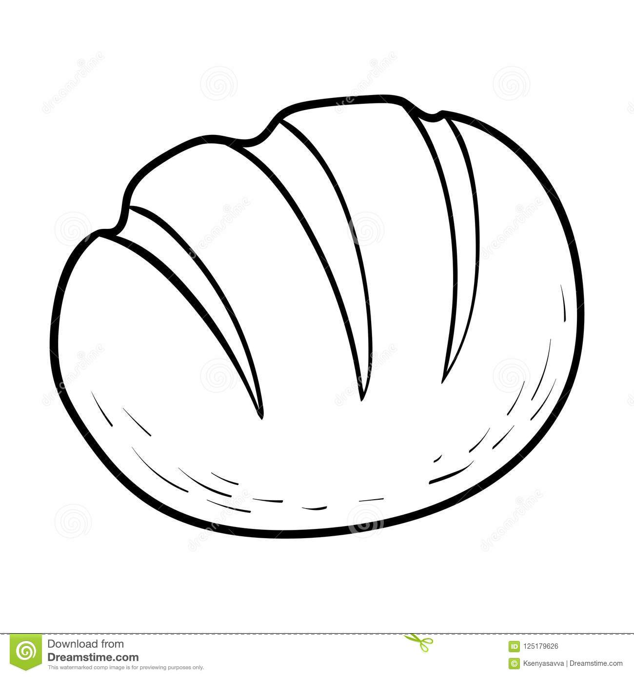 Coloring Book Bread Stock Vector Illustration Of Baker