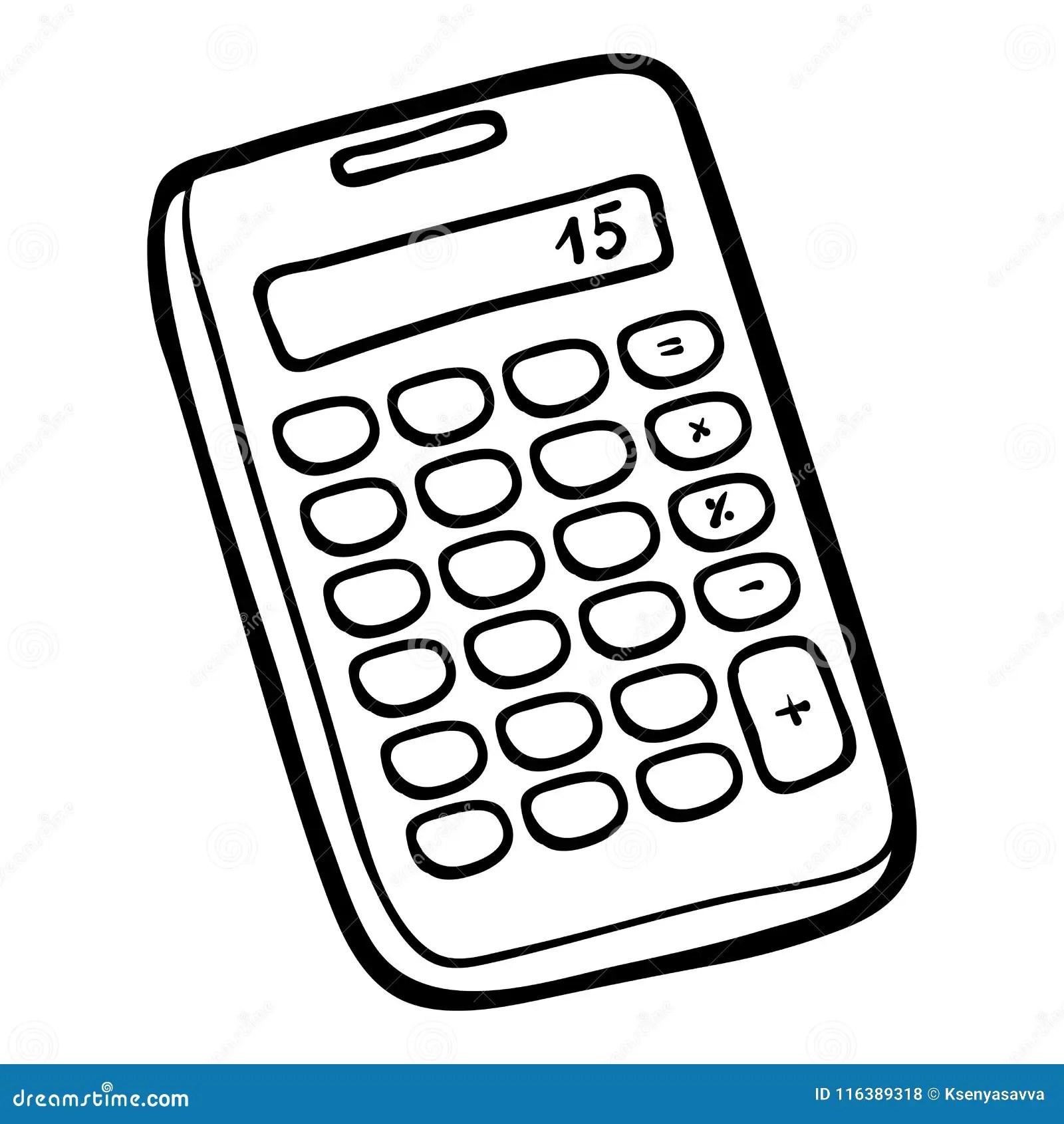 Coloring Book Calculator Stock Vector Illustration Of Book