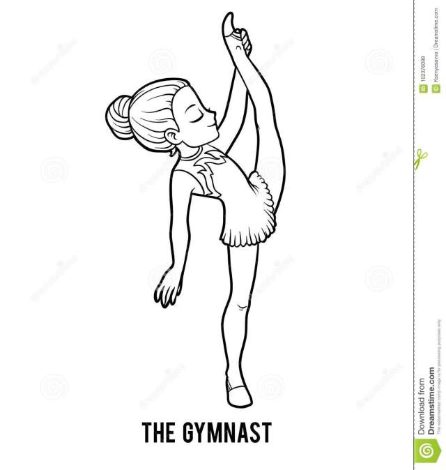 Gymnast Coloring Stock Illustrations – 27 Gymnast Coloring Stock