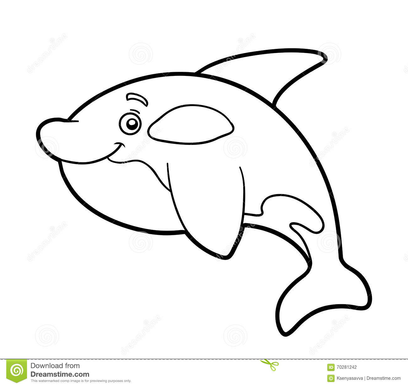 Coloring Book Coloring Page Killer Whale Stock Vector
