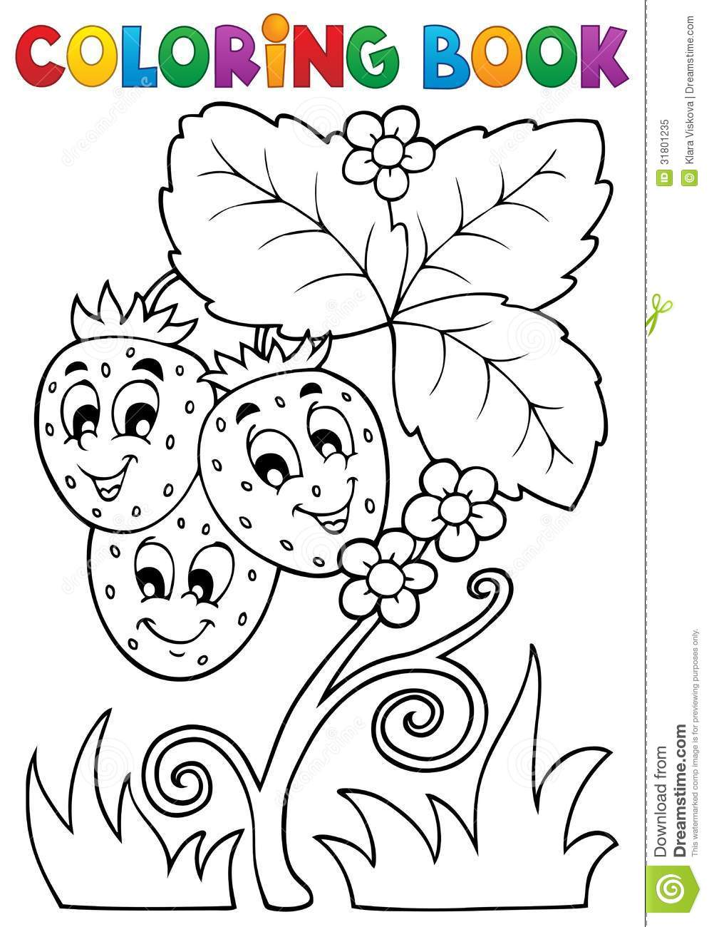 Coloring Book Fruit Theme 4 Stock Vector Image 31801235