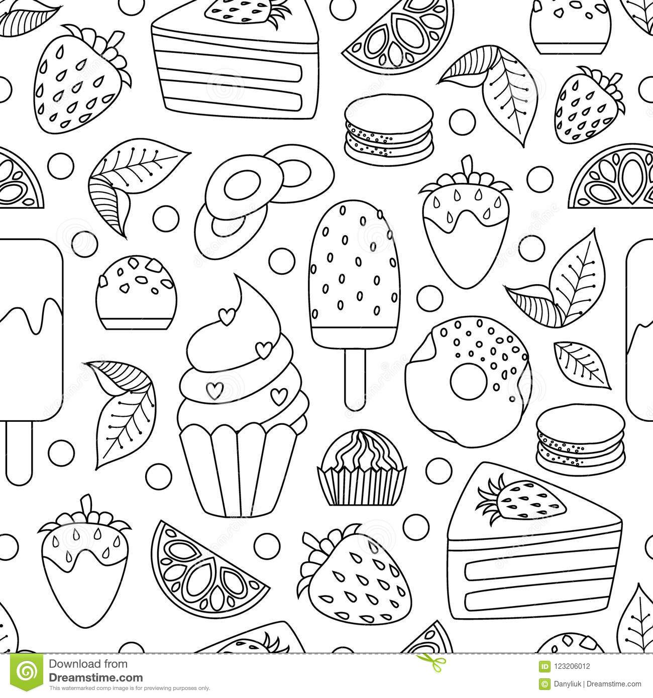 Coloring Book Hand Drawn Outline Artwork Page Vector