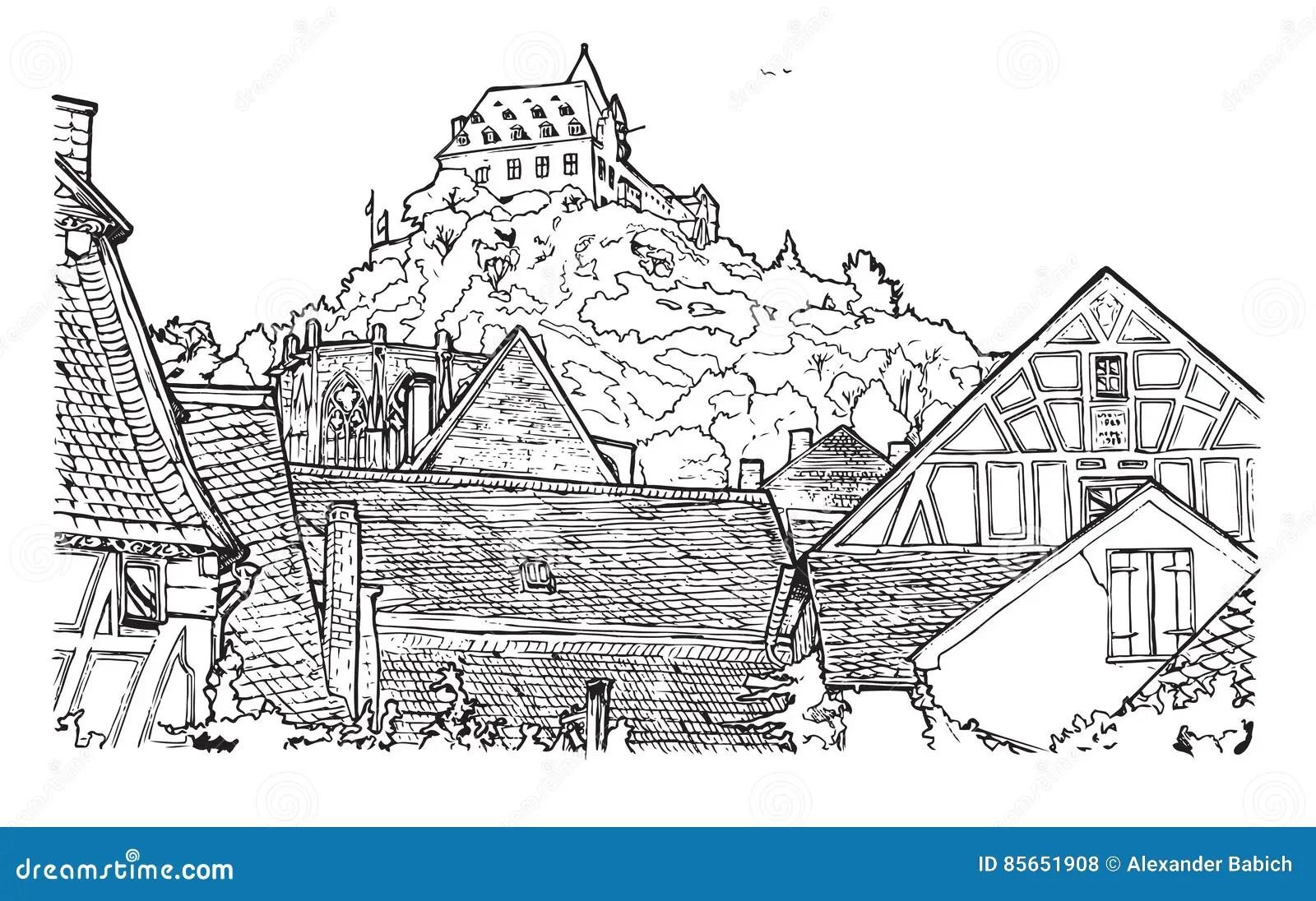 Germany Coloring Book Vector Illustration Cartoon Vector