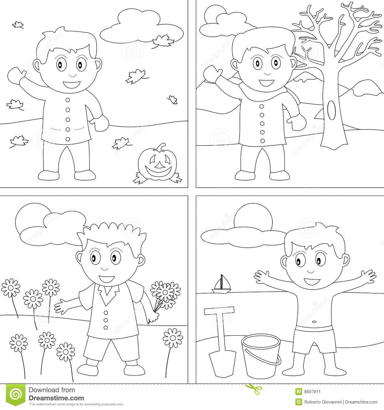 Coloring Book For Kids 27 Stock Vector