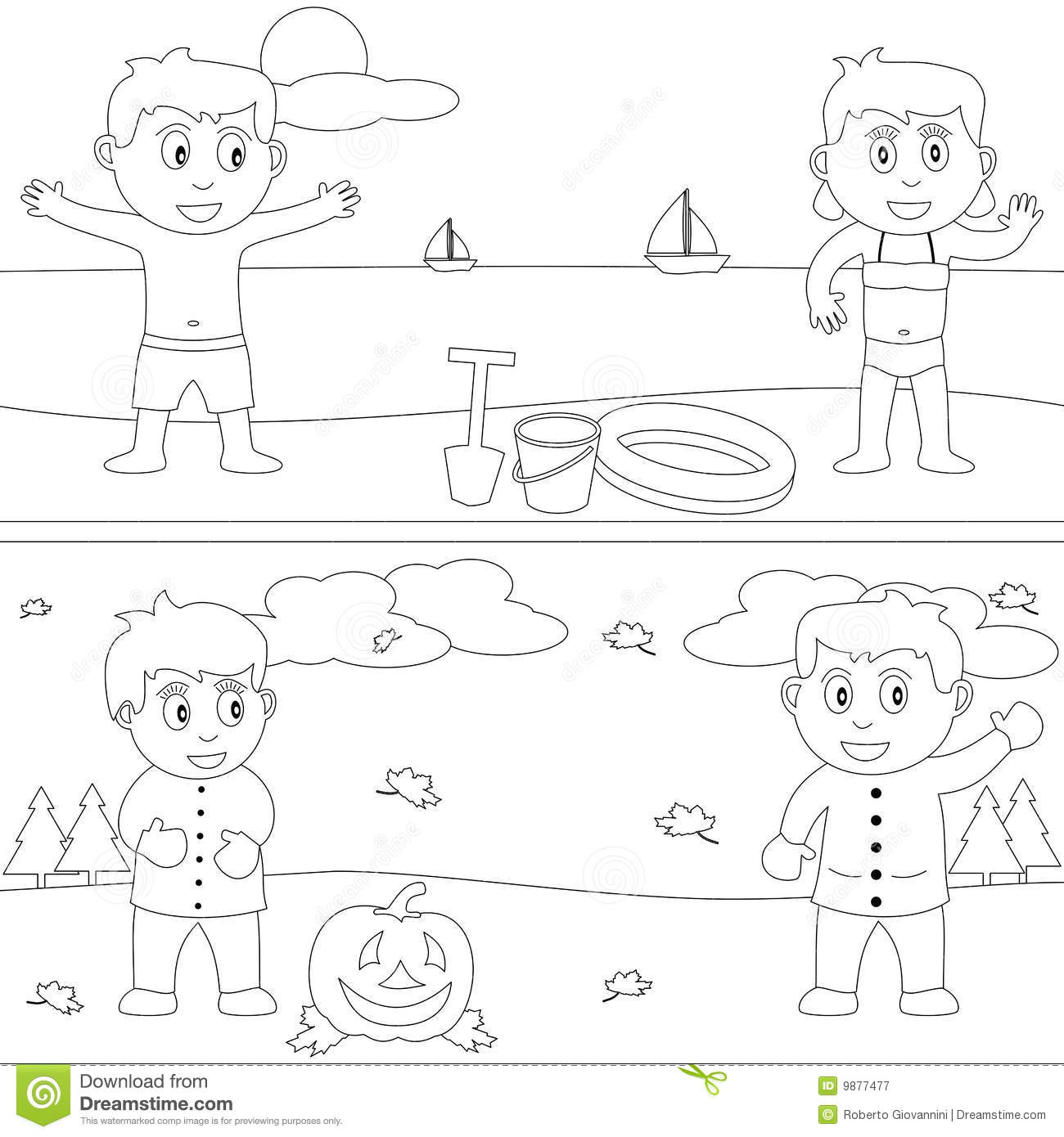 Coloring Book For Kids 29 Stock Vector