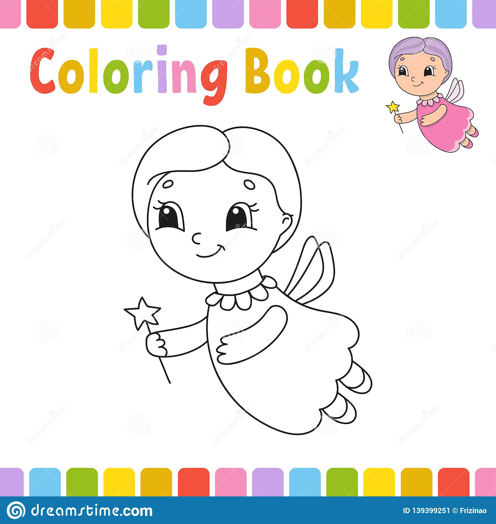 Simple Educational Kids Coloring Page Vector Illustration