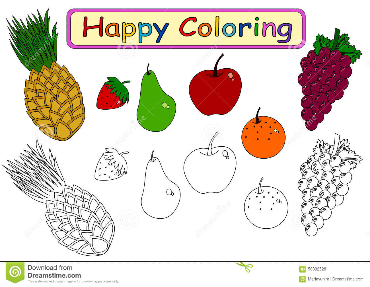 Coloring Book For Kids Stock Illustration