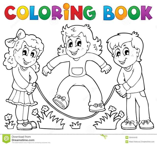 Kids Play Coloring Stock Illustrations – 26,626 Kids Play Coloring