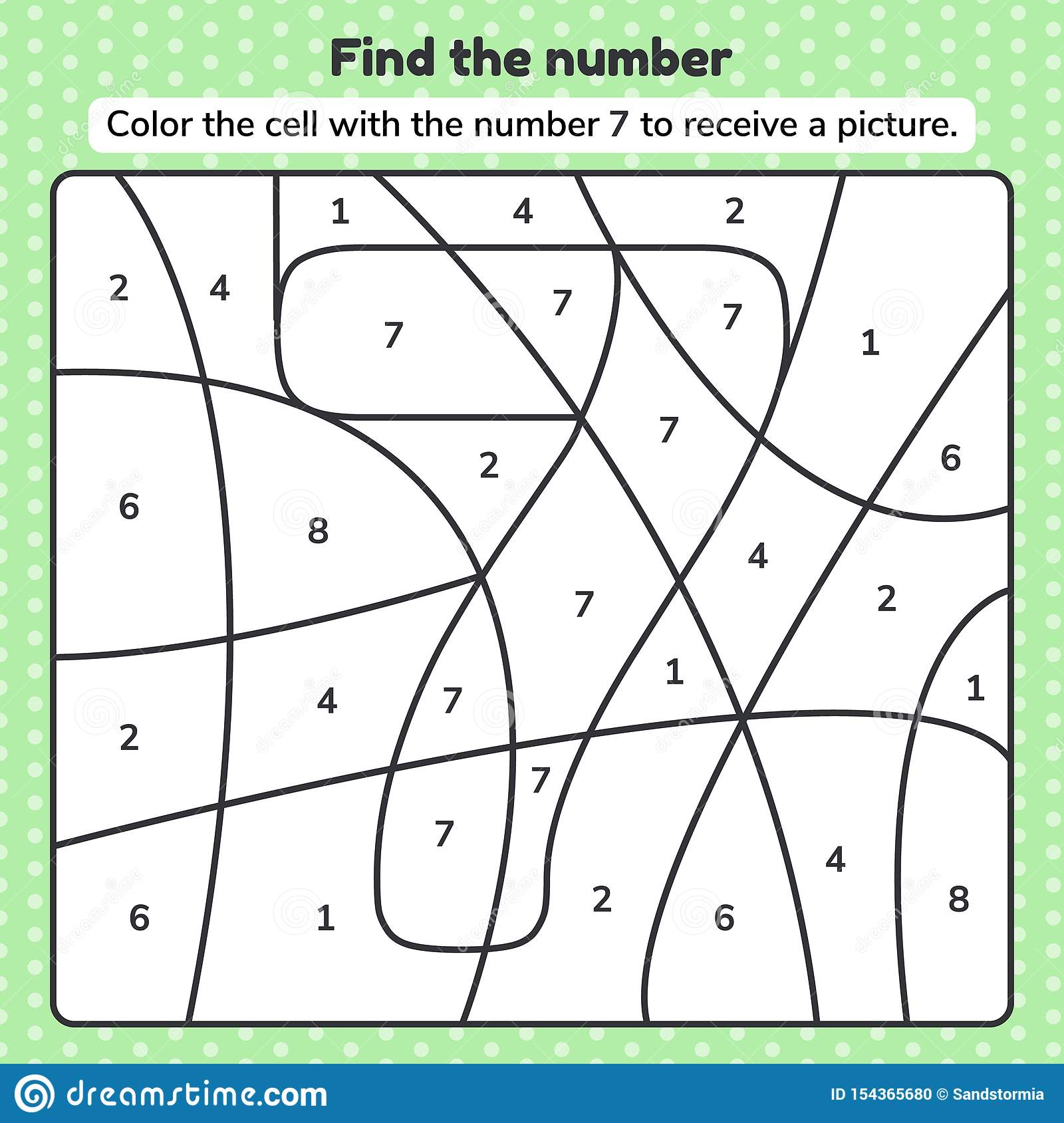 Coloring Book Number For Kids Worksheet For Preschool
