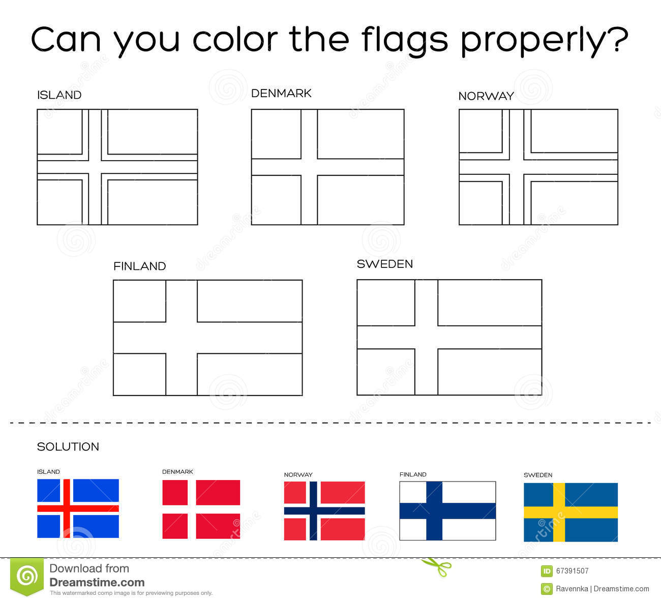Finland Flag Coloring Pages