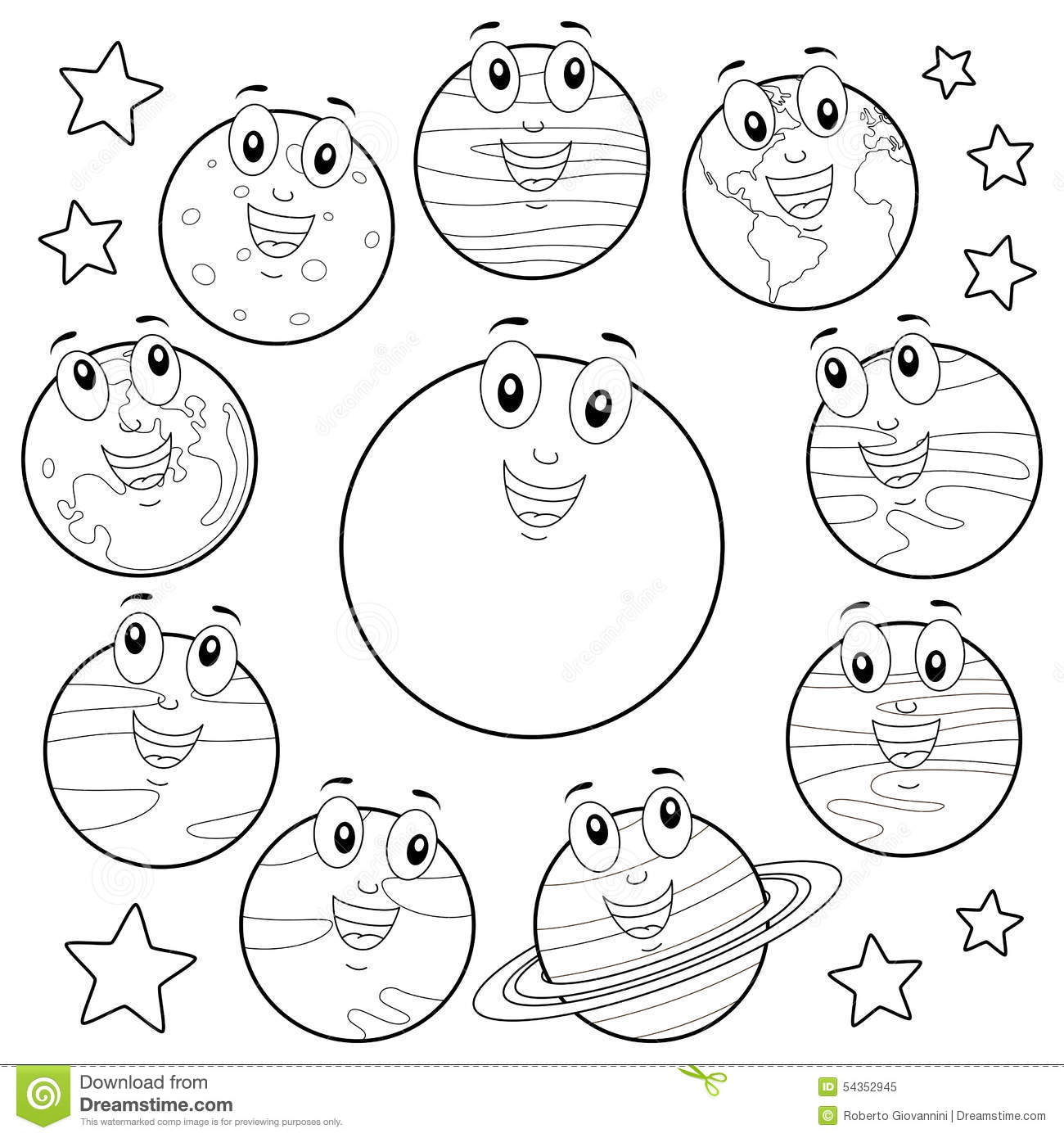 Outer Space Galaxy Star Diagram