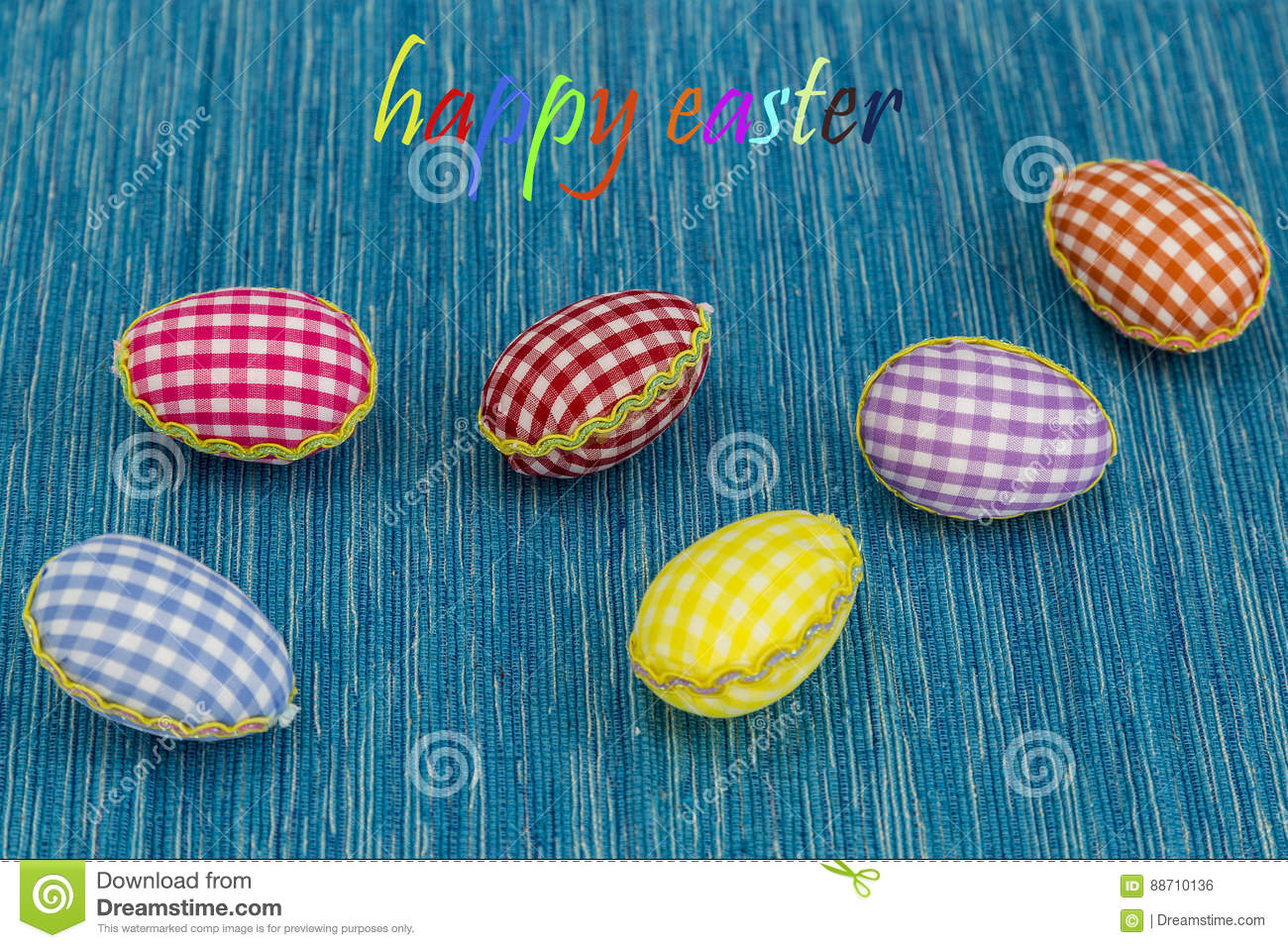 Coloring Eggs Painted Blue Background Green Yellow