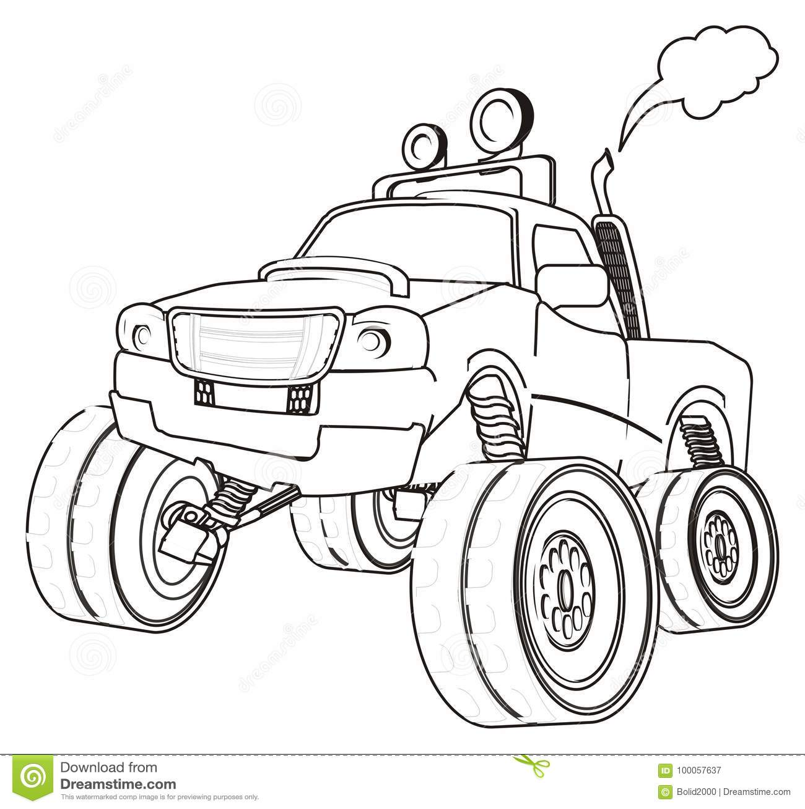 Paint One Truck Stock Illustration Illustration Of Tire