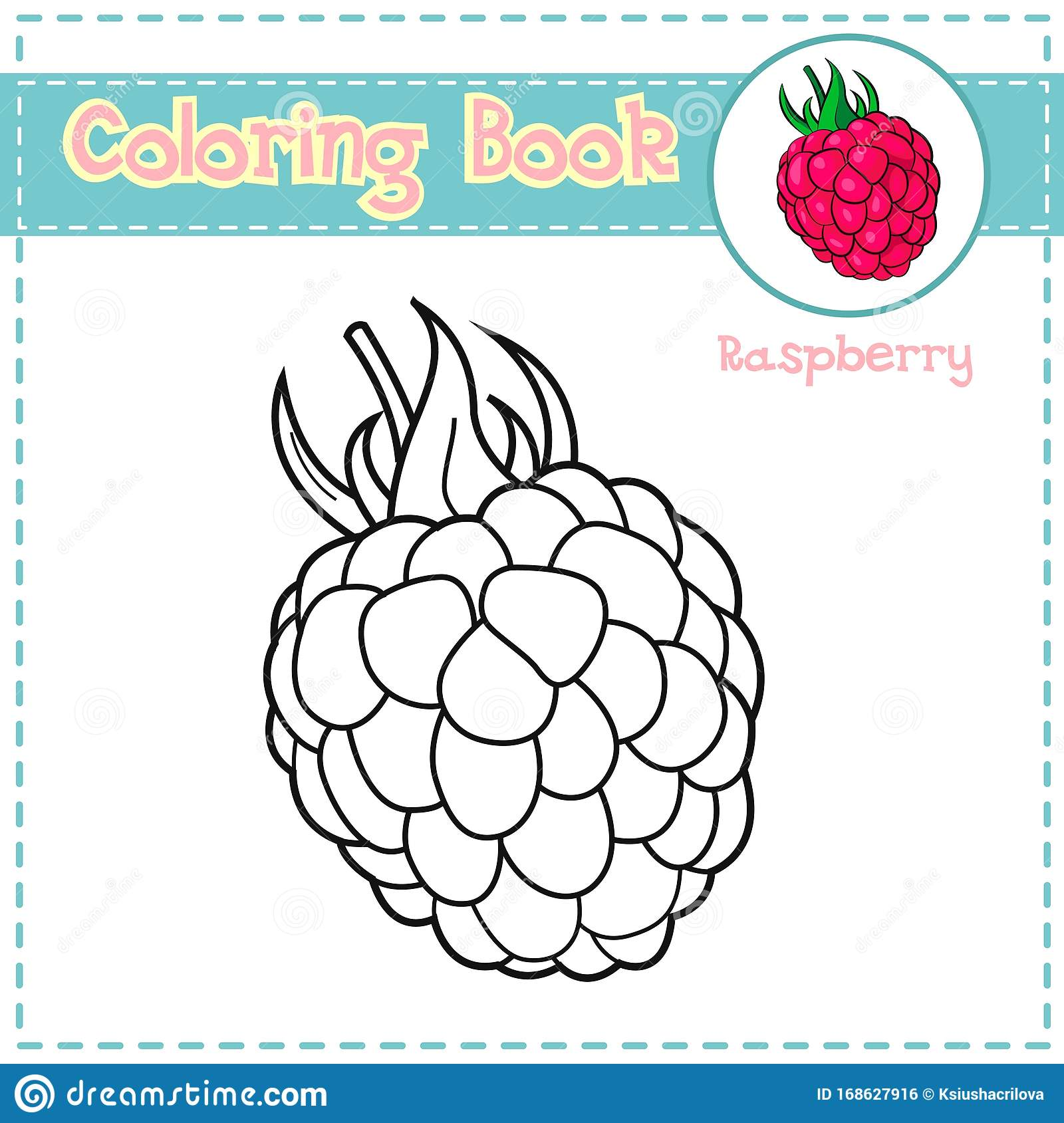 Coloring Page Of Berries For Preschool Kids Activity